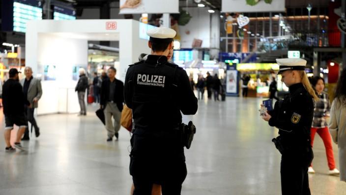 Bundespolizei am Hauptbahnhof in München, 2019