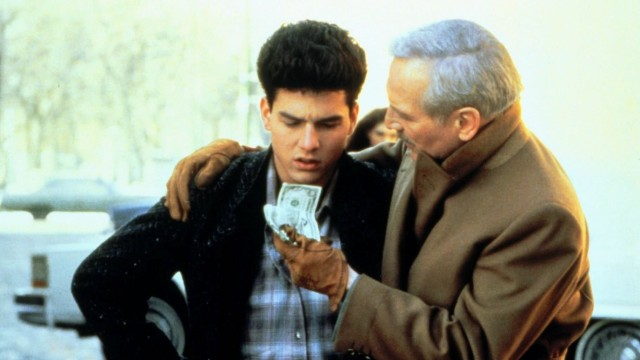 Tom Cruise & Paul Newman Characters: Vincent Lauria & Fast Eddie Felson Film: The Color Of Money (1986) Director: Martin; The Color of Money, Die Farbe des Geldes