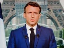 Frankreichs Präsident Emmanuel Macron, Corona-Impfung