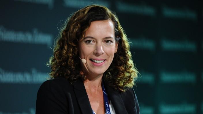 Miriam Wohlfahrt auf SZ-Wirtschaftsgipfel in Berlin, 2018
