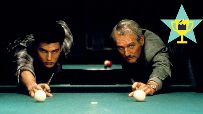 THE COLOR OF MONEY, Tom Cruise, Paul Newman, 1986 Buena Vista Pictures/Courtesy Everett Collection !ACHTUNG AUFNAHMEDATU