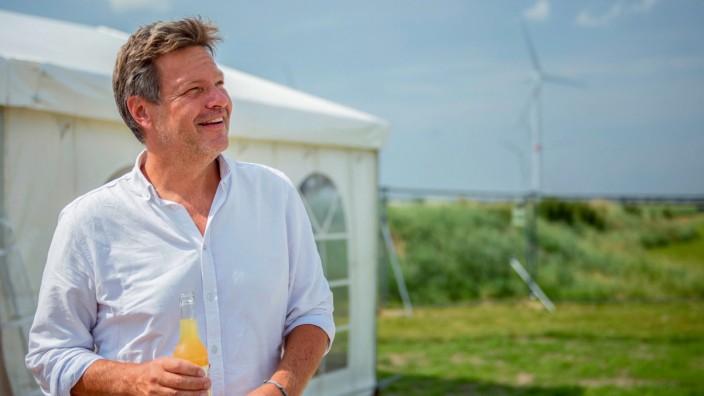 Die Grünen: Parteichef Robert Habeck in Nordfriesland