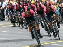 Radsport Tour de France Grand Depart in Brüssel 2 Etappe Mannschaftszeitfahren in Brüssel 2 P; Radsport