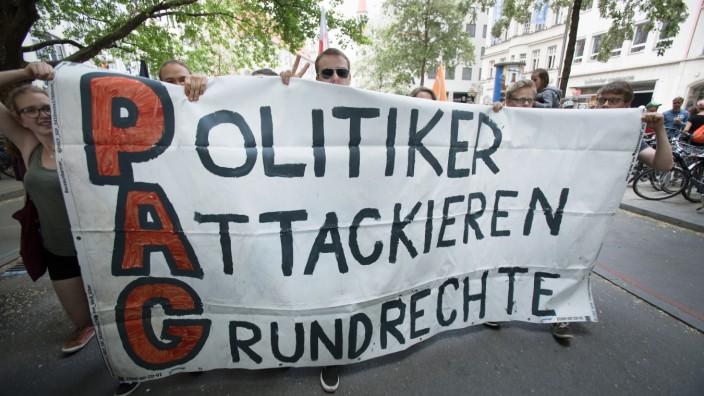 Demonstration gegen Polizeiaufgabengesetz in München, 2018