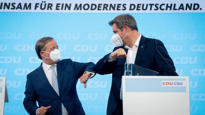 Armin Laschet und Markus Söder: Klausur der Spitzen von CDU und CSU