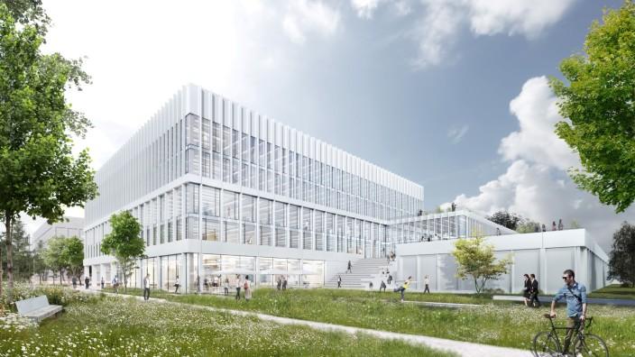 Garching: So stellen sich die Planer das neue Forschungs- und Entwicklungszentrum des Software-Herstellers SAP vor.