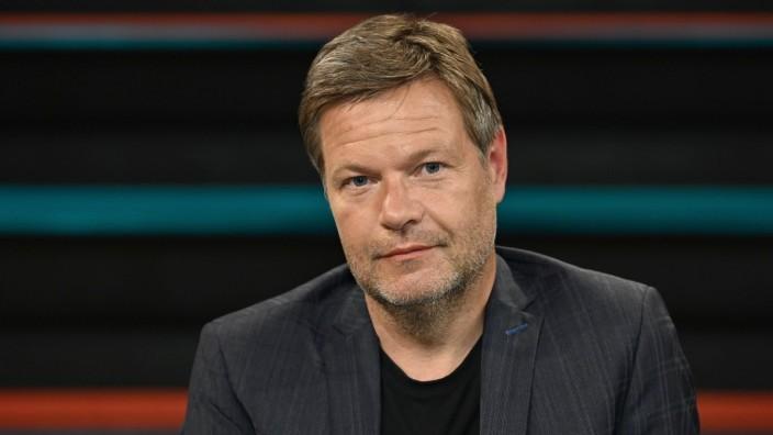 Robert Habeck (Politiker) 05/20 her Robert Habeck am 12. Mai 2020 in Markus Lanz , ZDF TV Fernsehen Talkshow Talk Show D