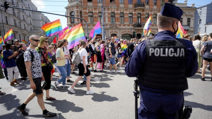 Polen: Demonstration der LGBTQ-Community in Lodz