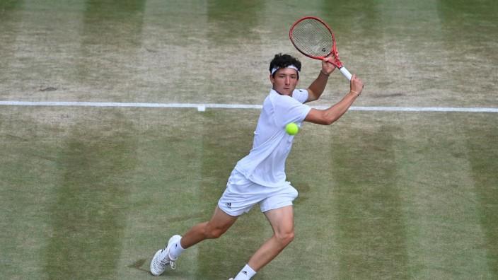 2021 Wimbledon Championship Junior Event Max Hans Rehberg , Germany *** 2021 Wimbledon Championship Junior Event Max Han