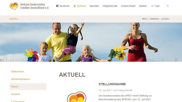 WDR-Rundfunkrat: Selbstverständlich für alle da: Auf seiner Homepage wirbt der Verband allerdings mit der Konstellation Mutter-Vater-mehrere Kinder.