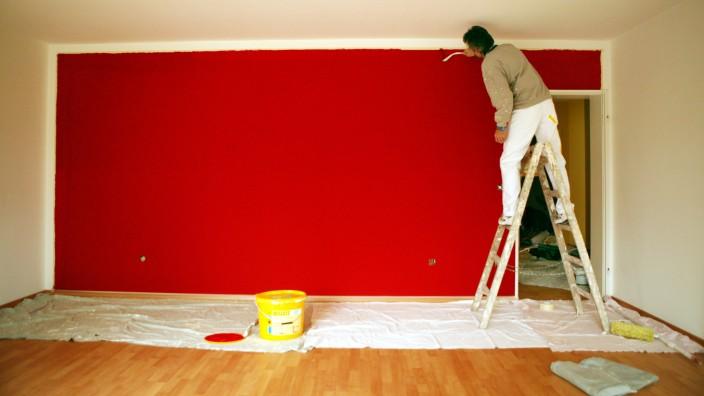 Wohnen: Wandfare. Farbklecks oder Stoffrahmen: Bei der Wandgestaltung Akzente setzen