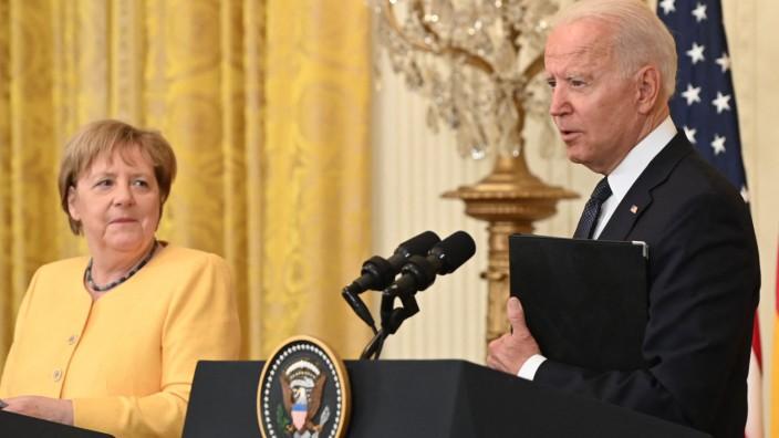 Biden hosts Germany's Merkel at the White House