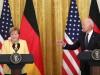 Angela Merkel bei ihrem letzten USA-Besuch als Kanzlerin mit US-Präsident Joe Biden
