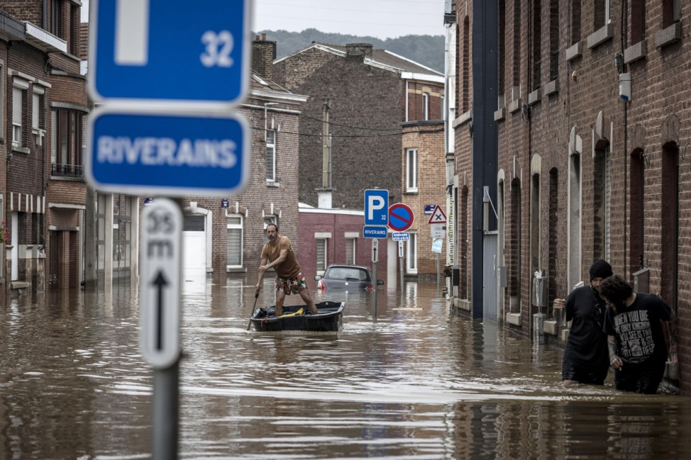 Nach dem Unwetter in Belgien
