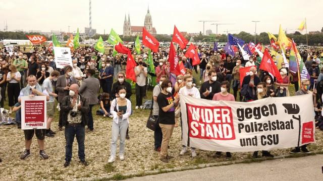 Demonstration auf der Theresienwiese, 2021