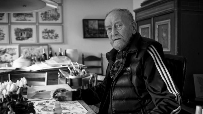 Der Karikaturist Kurt Westergaard in seinem Haus in Viby