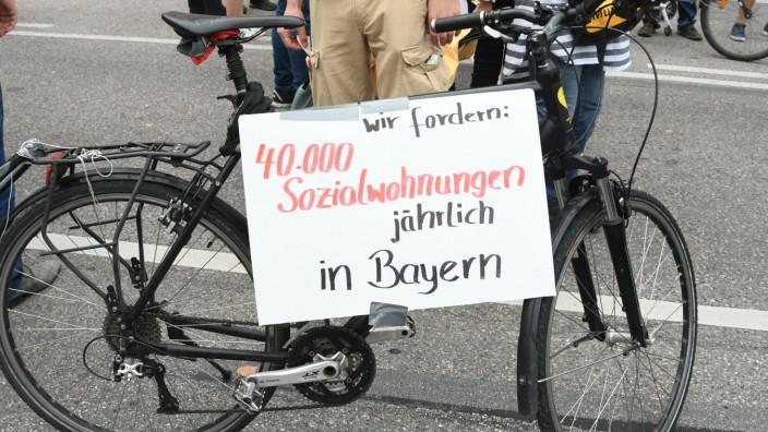 """Demonstration """"Ausspekuliert"""" in München, 2018"""
