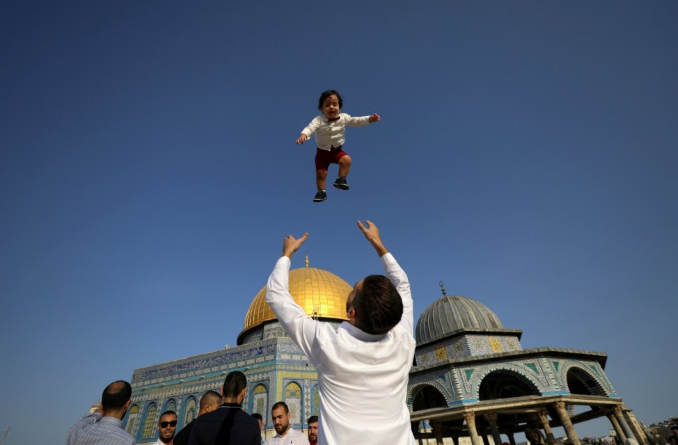 Palestinians mark first day of Muslim holiday Eid al-Adha in Jerusalem's Old City