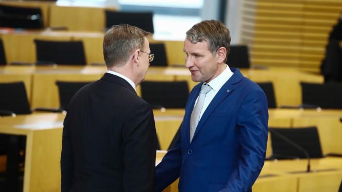 Thüringen: Ministerpräsident Bodo Ramelow und AfD-Fraktionschef Björn Höcke