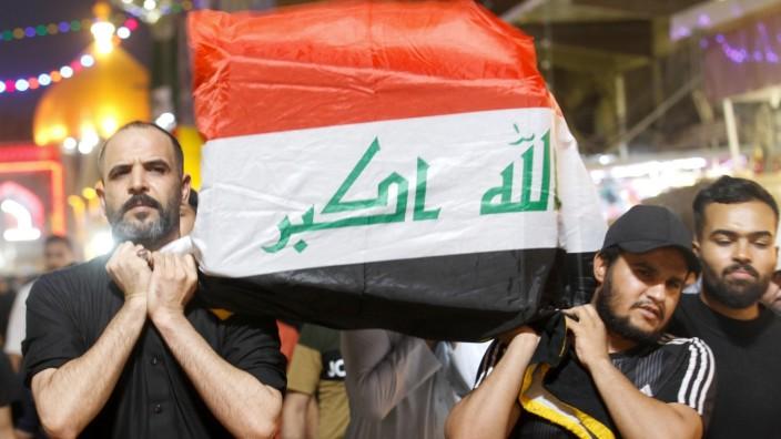 Funeral of blast victim in Najaf