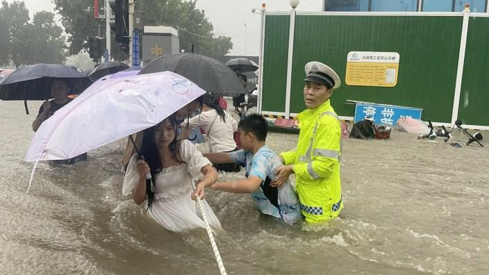 China: Hochwasser in Zhengzhou 2021