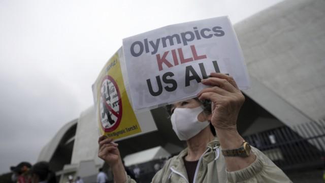 Fackellauf erreicht Olympia-Stadt Tokio in getrübter Stimmung