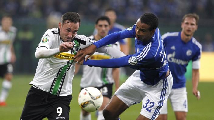 Schalke Veltins Arena 28 10 15 Josip Drmic Bor Mönchengladbach L gegen Joel Matip FC Schalk
