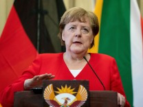 Besuch der Kanzlerin Angela Merkel in Südafrika