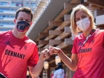 Tokio 2020 - Vorstellung Fahnenträger-Duo Deutschland