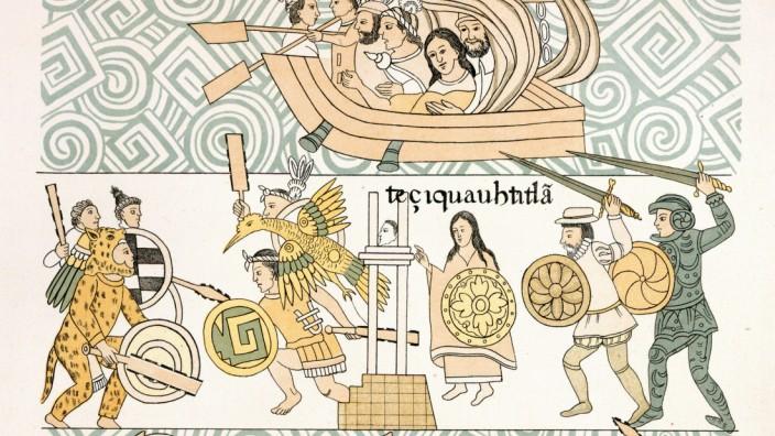 Der Kampf um die Azteken-Hauptstadt Tenochtitlan, Mexiko 1862, Hernán Cortés, Montezuma II, Moctezuma II