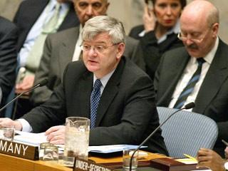 Joschka Fischer im UN-Sicherheitsrat