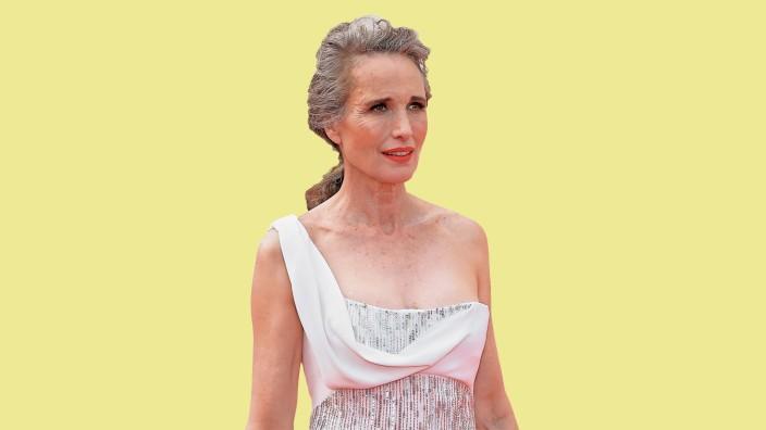 Ladies & Gentlemen: Wunderbar ergraut: Andie MacDowell beim Filmfestival in Cannes.