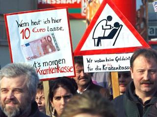 Proteste gegen die Gesundheitsreform