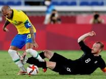 Soccer Football - Men - Group D - Brazil v Germany
