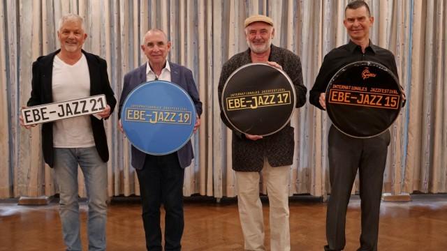 Ebersberg Jazz Jazzfestival Foto von einigen Haupt-Organisatoren der IG EBE-JAZZ bei (v.l.n.r. Frank Haschler, Joachim Jann Josef Ametsbichler, Dr. Bernhard Ladstetter)