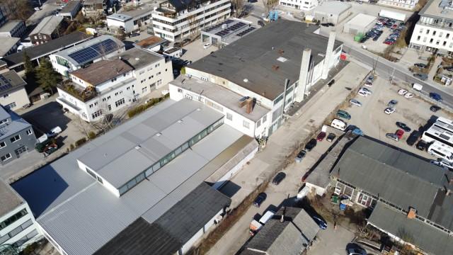 Gewerbegebiet: Eine Luftaufnahme zeigt den jetzigen Zustand des Areals.