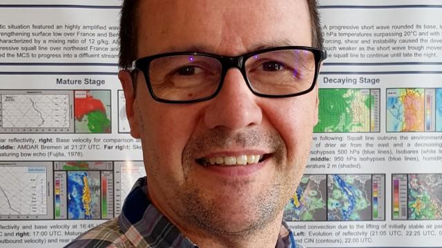 Unwetter: Den Diplom-Meteorologen Martin Jonas, 51, wurmt es, dass er und seine Kolleginnen und Kollegen zwar recht genau vorhersagen können, an welchen Orten wie viel Niederschlag fällt, aber trotzdem nicht wissen, was genau der Regen anrichtet.