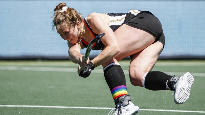 AMSTELVEEN - Nike Lorenz of Germany during the European Hockey Championship match between Germany and Belgium at the Wa