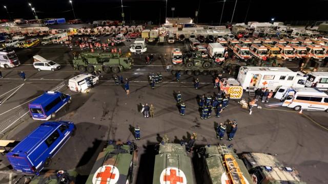 News Bilder des Tages Bereitstellungsraum zur Hilfeleistung der Opfer der Flutkatastrophe in NRW und Rheinland-Pfalz vo