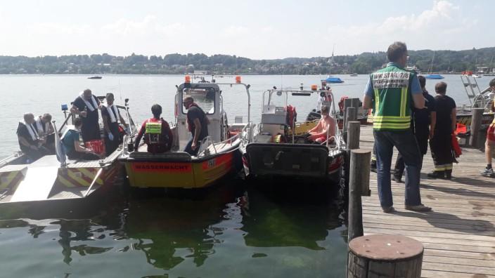 Percha: Fast 80 Einsatzkräfte schwärmen vergeblich auf dem Starnberger See aus.