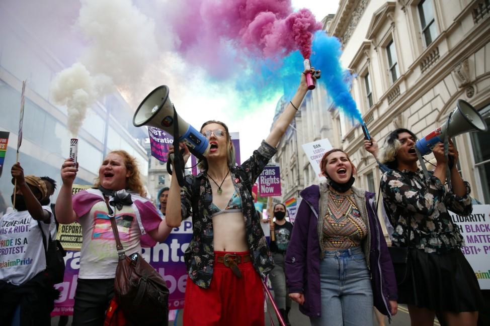 *** BESTPIX *** Reclaim Pride Protest Tells Boris Johnson To Stop Stalling on LGBT Rights