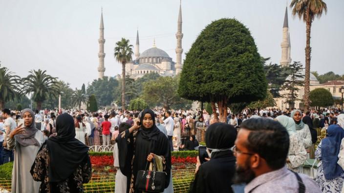 Muslim festival of sacrifice Eid al-Adha in Istanbul