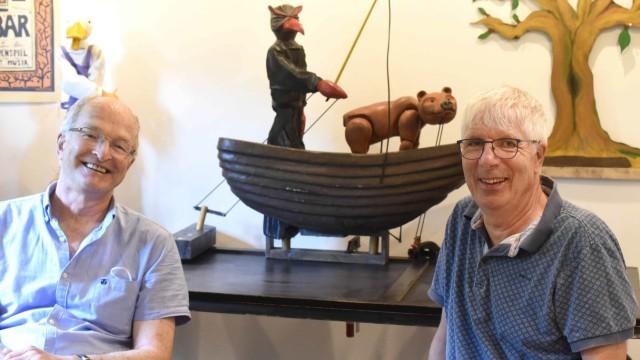 Ausstellung in der Altstadt: Martin Prochaska (rechts) und Thomas Nied.