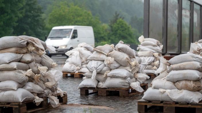 Starkregen in Rheinland-Pfalz - Region Trier