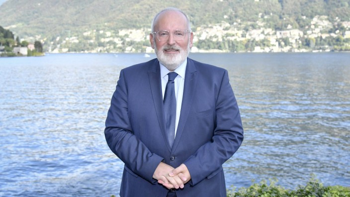 Cernobbio First day of the European House Ambrosetti Forum in the picture Frans Timmermans PUBLICA
