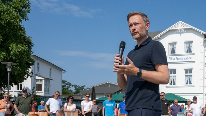 FDP-Chef Christian Lindner auf Wahlkampftour
