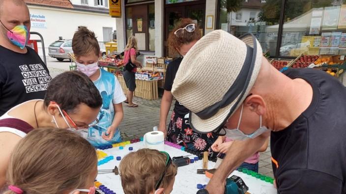 Kirchheim: Beim Gründungsfest des neuen Kunstraum-Vereins gab es auch Aktionen für Kinder.