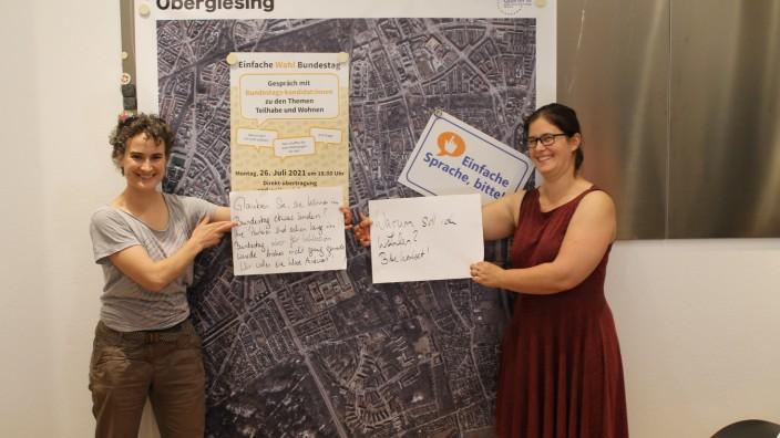 """Integrative Podiumsdiskussion zum Thema """"Einfache Wahl Bundestag"""" Leichte Sprache"""