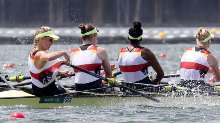 Olympia in Tokio 2021: Der Frauen-Doppelvierer im Finale