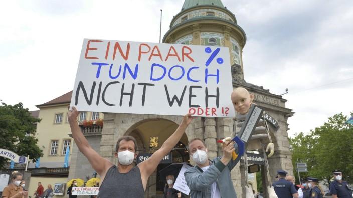 Kultur und Kunst - Proteste gegen Kürzungen, 2021